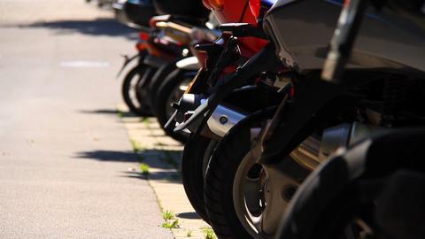 Motorbikes Stock Video Footage
