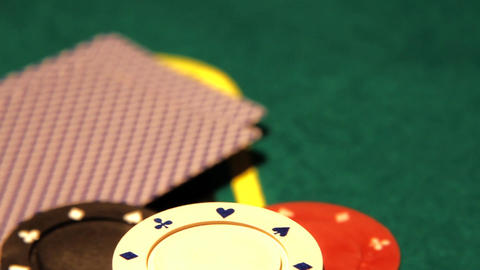 Poker 13 dolly right Stock Video Footage