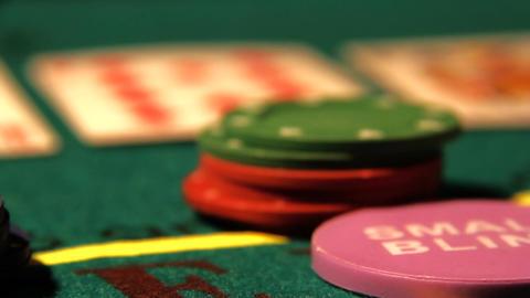 Poker 21 raise Stock Video Footage