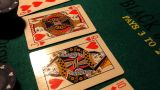 Poker 27 Dolly Left stock footage