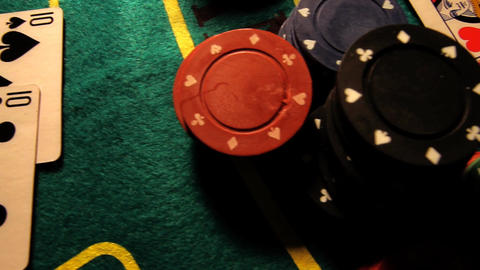 Poker 29 dolly left Stock Video Footage