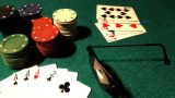 Poker 37 Dolly Left stock footage