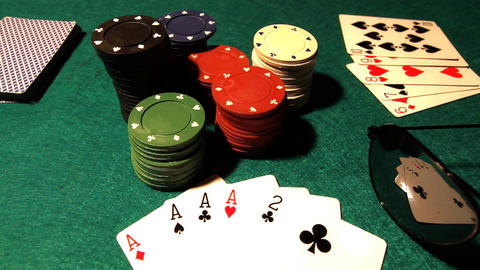 Poker 37 dolly left Stock Video Footage