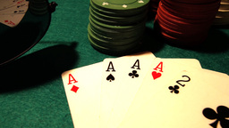 Poker 41 dolly right Stock Video Footage