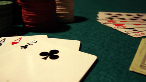 Poker 43 dolly right Stock Video Footage