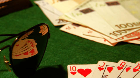 Poker 50 dolly right Stock Video Footage