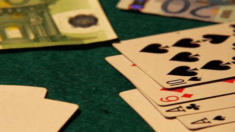Poker 53 euro cash Stock Video Footage