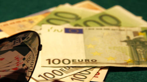 Poker 53 euro cash Stock Video Footage