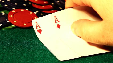 Poker 76 showdown Stock Video Footage