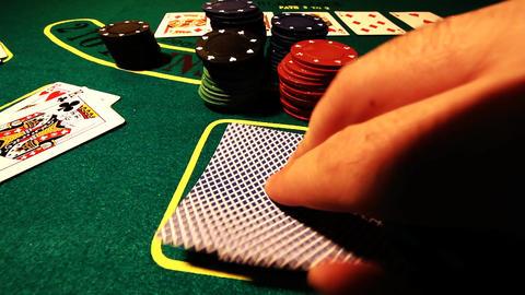Poker 78 showdown Stock Video Footage