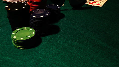 Poker 80 showdown royal Stock Video Footage