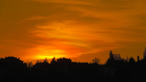 Sunset Timelapse Stock Video Footage