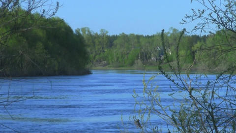 Turn of River Stock Video Footage