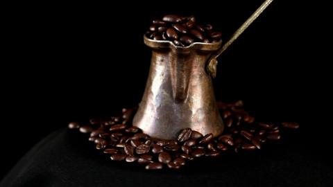 Loop coffee beans Stock Video Footage