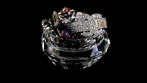loop crystals Stock Video Footage