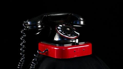 loop retro phone Stock Video Footage