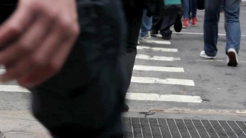 Street traffic Stock Video Footage