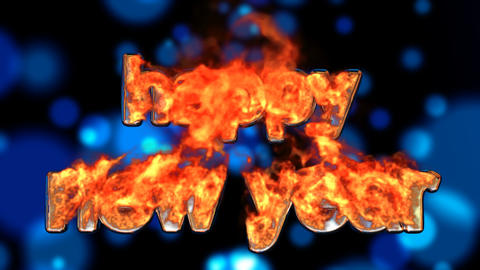 fire happy new year Stock Video Footage