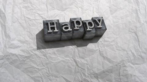 Litho happy birthday Stock Video Footage