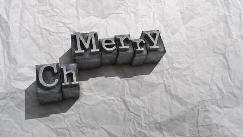 Litho merry christmas Stock Video Footage
