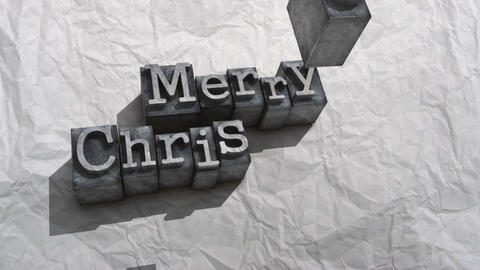 Litho merry christmas Animation