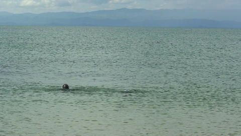 Malawi: african boys playing in a water Footage