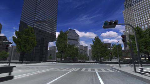 City 4E2 HD Stock Video Footage