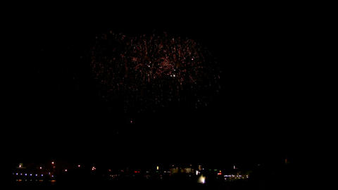 Fireworks show f1 Stock Video Footage