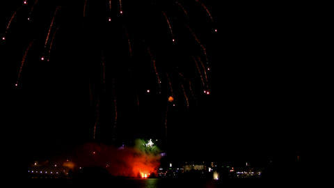 Fireworks show g2 Stock Video Footage