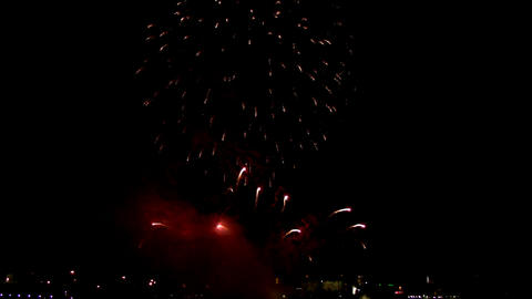 Fireworks show h1 Stock Video Footage