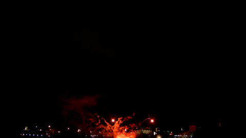 Fireworks show i1a Stock Video Footage