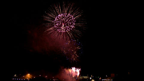 Fireworks show i1c Stock Video Footage