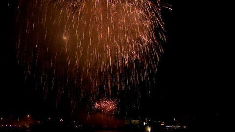 Fireworks show j1 Stock Video Footage