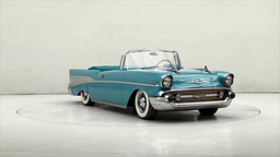 Chevrolet Bel Air Convertible 1957 stock footage