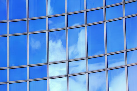 Clouds In Windows stock footage