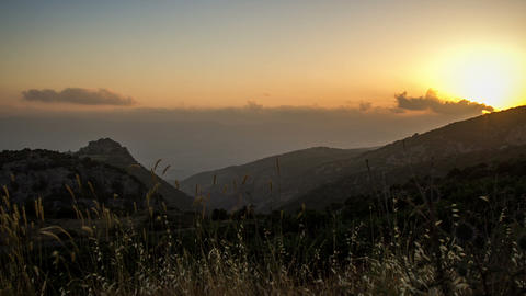 north israel mountain landscape sunset DSLR timela Footage