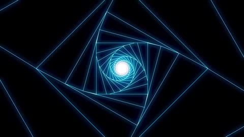3 D cube a blue Animation