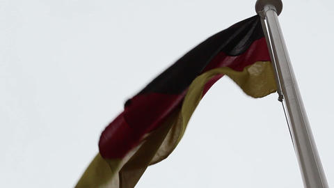 A Europian flag waving on the breeze of the wind Footage
