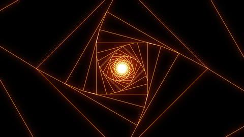 3 D cube a orange CG動画
