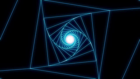 3 D cube b blue Animation