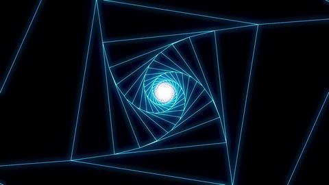 3 D cube b blue Animation