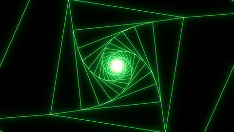 3 D cube b green Animation