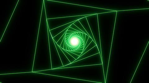 3 D cube b green Animation
