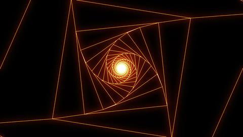 3 D cube b orange CG動画