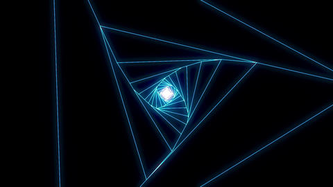 3 D triangle a blue CG動画