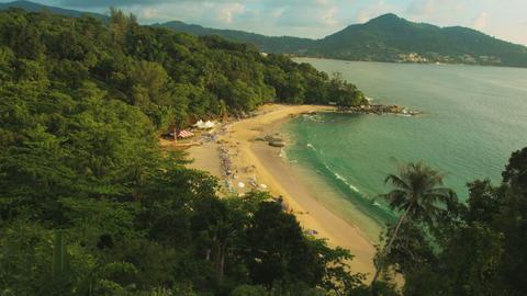 Laem Sing beach. Phuket island. Thailand. View fro Footage