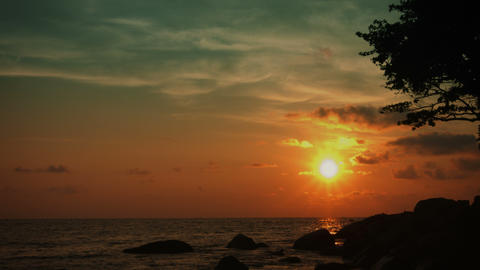 Tropical ocean coast. Tranquil landscape Footage