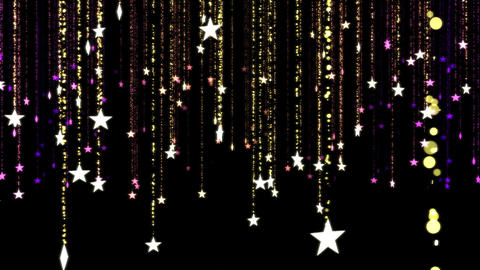 Glitter Stars, Christmas Decoration - Loop Stock Video Footage