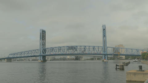 main street bridge under maintenance 4k Footage