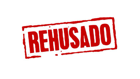 Red Rubber Stamp Denied Spanish Animation